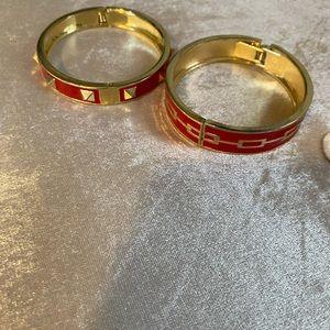 Set of gold plated bracelets
